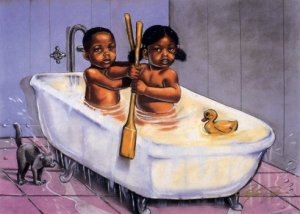 "Row, Row, Row by Curtis E. James looks like ""Southern Living"" to me:■The Black & African Art Museum of TWOAA®: The Writings of African-Americans®"