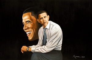 """Mohammed Mubark's Art Work """"Obama Home"""": The Writings of African-Americans®"""