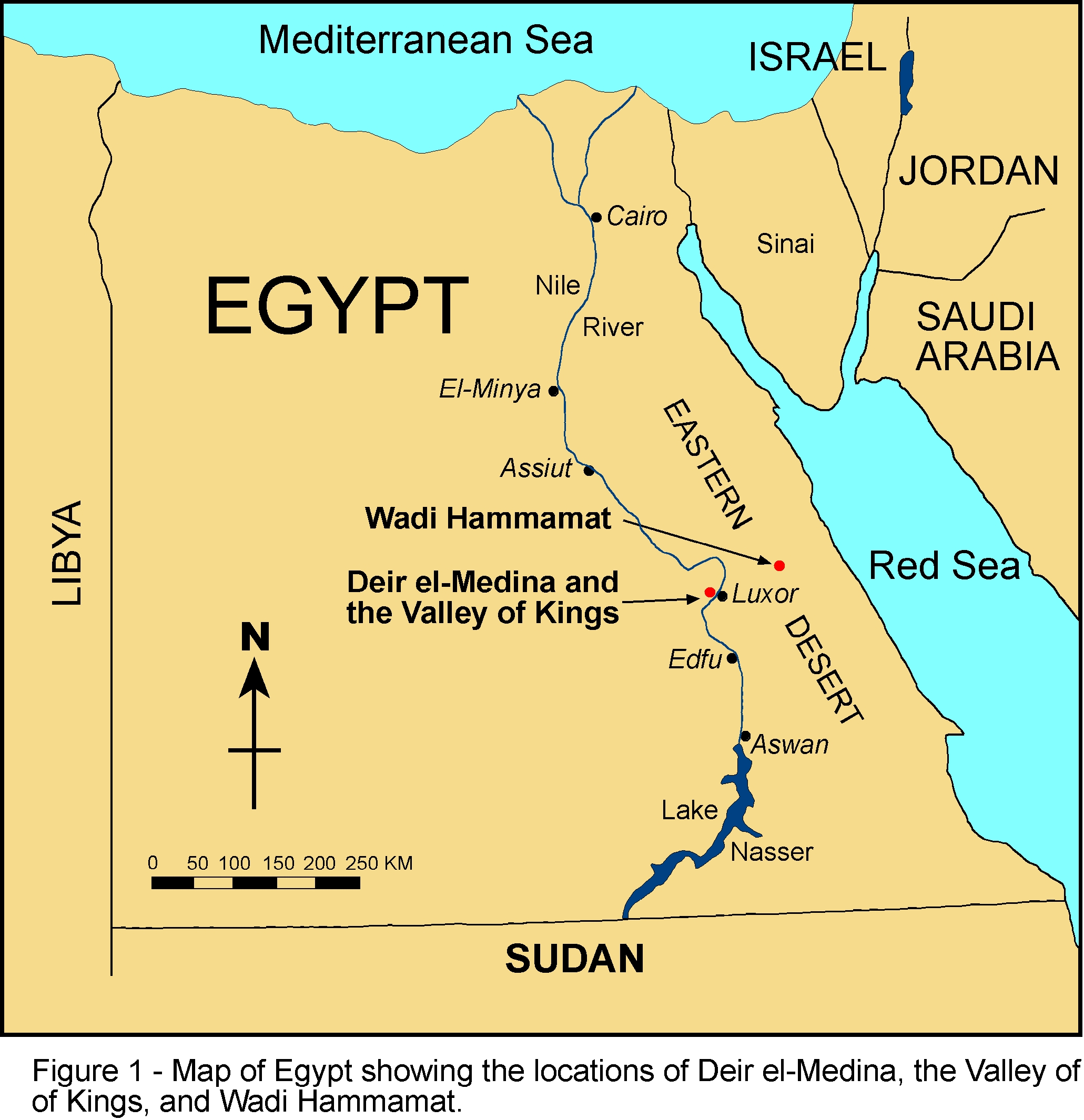 Map of Egypt an African Country: The Writings of African-Americans ...